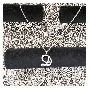 Jewelry - Initial Cursive D Necklace